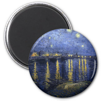 Starry Night over the Rhone 6 Cm Round Magnet