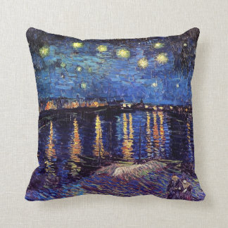 Starry night over the Rhone by Van Gogh Cushion