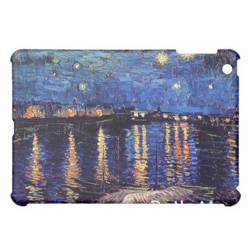 Starry night over the Rhone by Van Gogh iPad Mini Cover