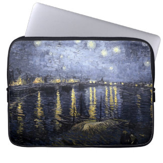 Starry Night Over the Rhone by Van Gogh Laptop Sleeve