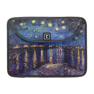 Starry night over the Rhone by Van Gogh Sleeves For MacBooks