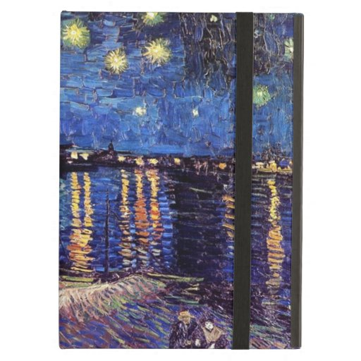 Starry Night over the Rhone, by Vincent van Gogh. iPad Case