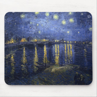 Starry Night Over the Rhone by Vincent van Gogh Mouse Pad