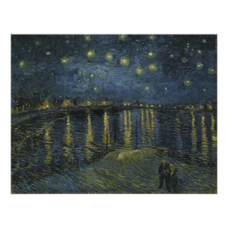 Starry Night Over the Rhone by Vincent Van Gogh Photo