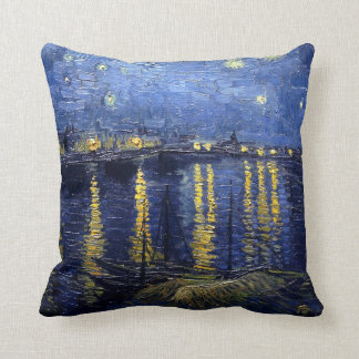 Starry Night Over the Rhone Cushion