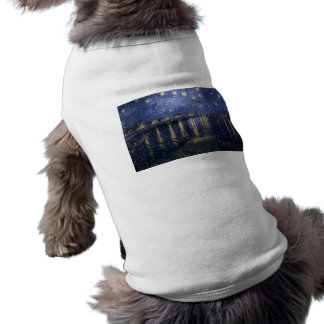 Starry Night Over The Rhone Pet Shirt