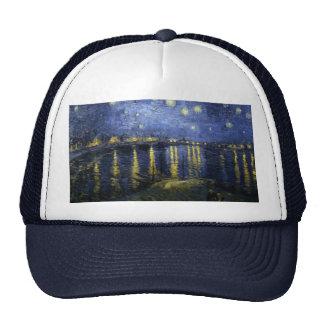 Starry Night Over the Rhone Trucker Hats