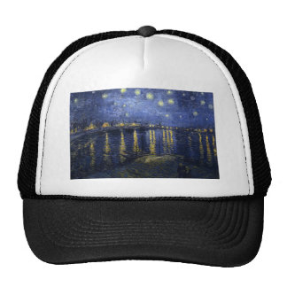 Starry Night Over The Rhone Mesh Hats