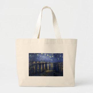Starry Night over the Rhone Jumbo Tote Bag