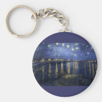 Starry Night Over The Rhone Keychains