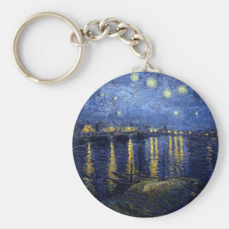 Starry Night Over the Rhone Key Chains