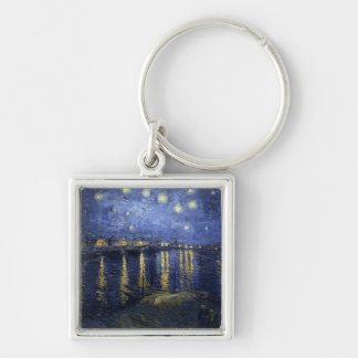 Starry Night Over the Rhone Keychain