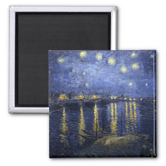 Starry Night Over The Rhone Fridge Magnets