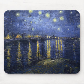 Starry Night Over The Rhone Mousepads