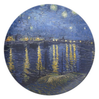 Starry Night Over the Rhone Party Plate