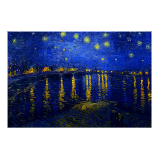 Starry Night Over the Rhone Print
