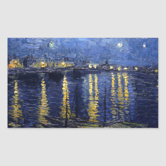 Starry Night Over the Rhone Rectangle Sticker