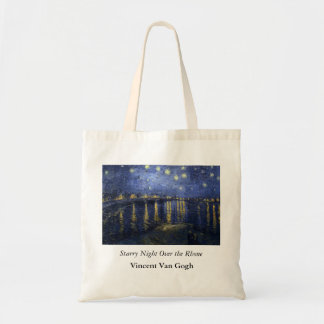 Starry Night Over the Rhone - Van Gogh 1888 Canvas Bags