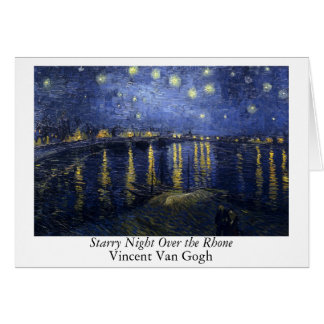 Starry Night Over the Rhone - Van Gogh (1888) Stationery Note Card