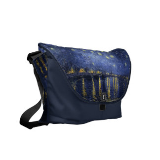 Starry Night Over the Rhone - Van Gogh (1888) Courier Bags