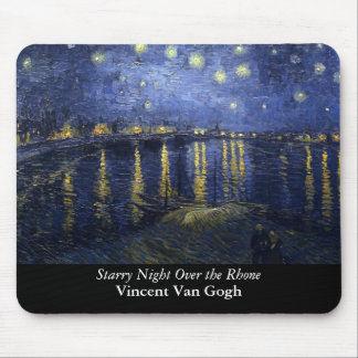 Starry Night Over the Rhone - Van Gogh 1888 Mousepad