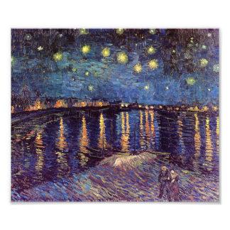 Starry Night Over the Rhone - Van Gogh Photo Print