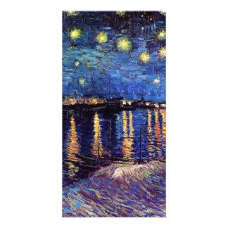 Starry Night over the Rhone, Vincent van Gogh Custom Photo Card