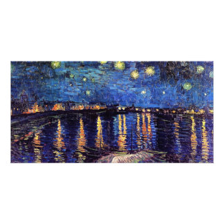 Starry Night over the Rhone, Vincent van Gogh Customized Photo Card