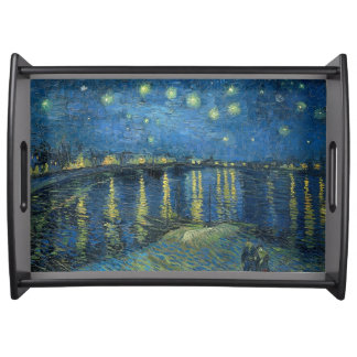 Starry Night Over The Rhone Vincent van Gogh Serving Tray