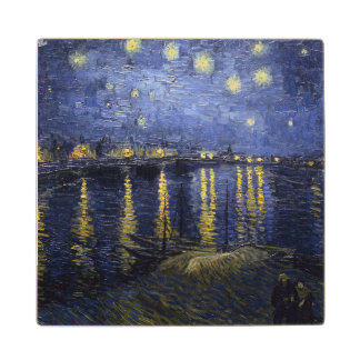 Starry Night Over the Rhone Wood Coaster