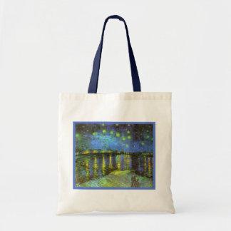 Starry Night Over the River Rhone Van Gogh Tote Bag