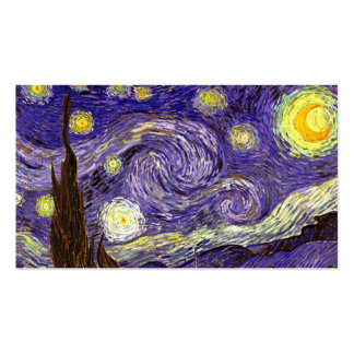Starry Night painting by artist Vincent Van Gogh Business Cards