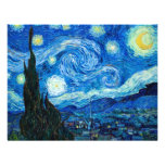 Starry Night Painting By Painter Vincent Van Gogh Custom Announcement