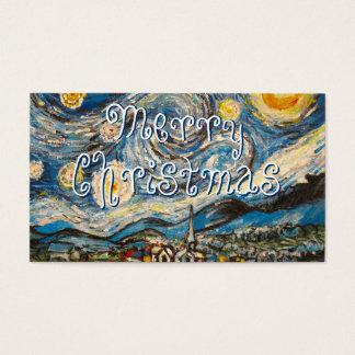 Starry Night painting repaint Merry Christmas