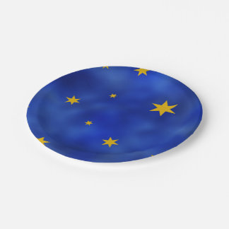 Starry Night Party Paper Plate