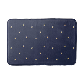 Starry Night Pattern Bath Mat