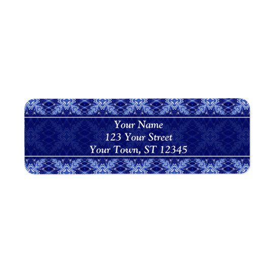 starry night pattern return address label