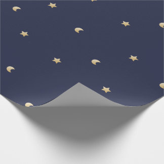 Starry Night Pattern Wrapping Paper