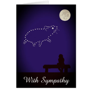 Starry Night Pet Hamster, Mouse or Rat Sympathy Card