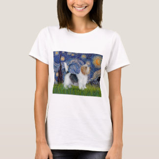 Starry Night - Petit Basset (PBGV) T-Shirt