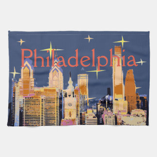 Starry Night Philadelphia Tea Towel