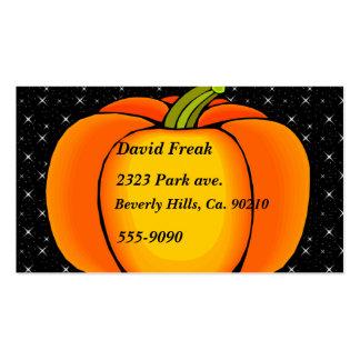 Starry Night Pumpkin Pack Of Standard Business Cards