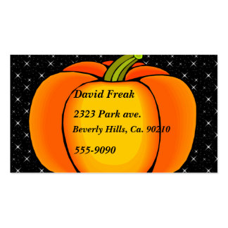 Starry Night Pumpkin Double-Sided Standard Business Cards (Pack Of 100)