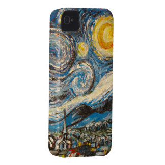 Starry Night repaint after Vincent Van Gogh iPhone 4 Cover
