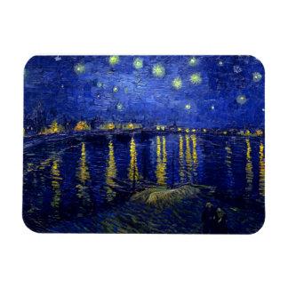 Starry Night Rhone by Van Gogh Rectangular Photo Magnet