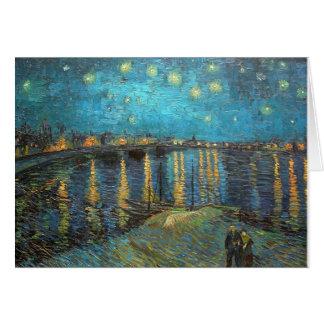 Starry Night Rhone River art Note Card