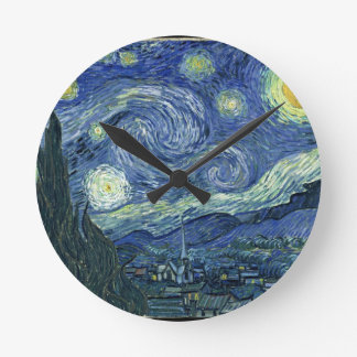 Starry Night Round Clock