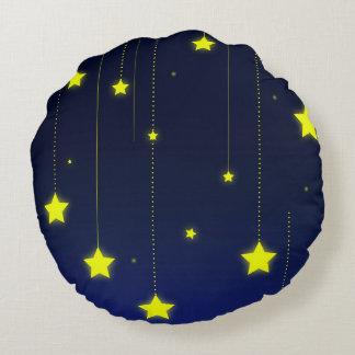 Starry Night round throw pillow