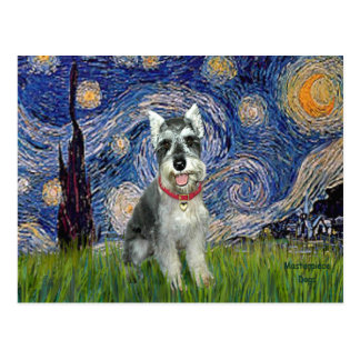 Starry Night - Schnauzer #8 Postcard