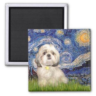 Starry Night - Shih Tzu (Y) Square Magnet